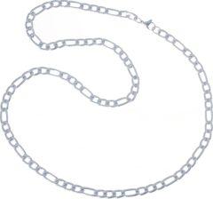 Zilveren LGT JWLS LGT Jewels Figaro Edelstaal ketting 6mm-56cm