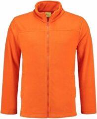 L&S Oranje fleece vest met rits voor volwassenen L (40/52)