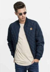 Marineblauwe Urban classics Diamond Quilt Nylon Jacket navy M