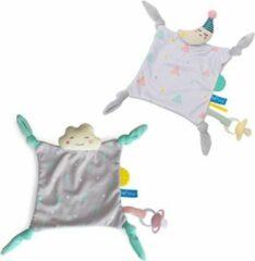 Taf Toys - Wolk en maan knuffeldoekjes - set van 2 - Met velcrostrip voor fopspeen