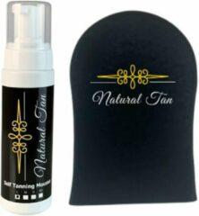 Natural an Natural Tan Self Tanning Mousse incl. handschoen - light- zelfbruiner-200ml