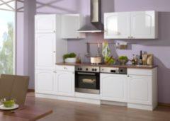 HELD Möbel Küchenzeile Rom 280 cm Hochglanz weiß - ohne E-Geräte