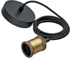 Philips Lighting Vintage cord gold 3610710PN Pendellamp LED, Gloeilamp E27 Energielabel: Afhankelijk van de lamp 60 W