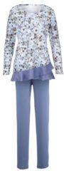 Schlafanzug Harmony taubenblau/ecru/blau