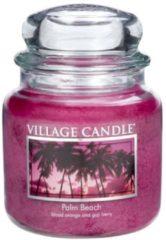 Paarse Village candle- Palm Beach medium 105 Branduren