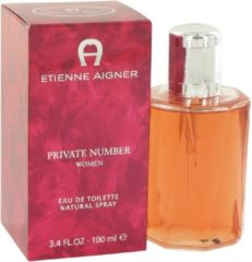 Aigner Private Number By Etienne Aigner Edt Spray 100 ml - parfumerie voor dames