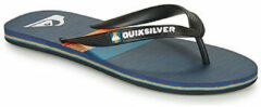 Blauwe Quiksilver Molokai Seasons Heren Slippers - Jet Black/Nite Blue - Maat 47
