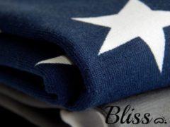 Bliss Babydeken - Wikkeldeken - Omslagdoek - Wiegdeken - Dekentje - Ster Donkerblauw