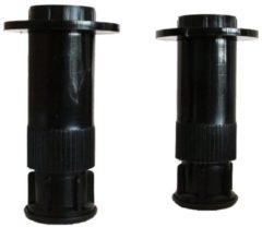 Saniclass B douchebakpoten per set zwart 1B2.1295