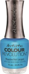 Turquoise Artistic Nail Design Colour Revolution 'Catch my Air'