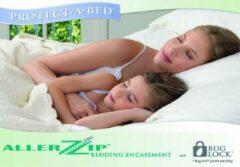 Witte Merkloos / Sans marque Allerzip® matrasbeschermer 180 x 200 cm