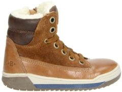 Nelson by Orange Babies jongens veterboot - Cognac - Maat 24