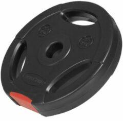 Zwarte Gorilla Sports Gewichtsschijf - Halterschijf - 2,5 kg - Gripper Kunststof - 30 mm