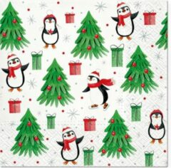 Tete à Tete Christmas Penguins papieren servetten