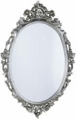 Sapho Desna ovale barok spiegel zilver antique 80x100