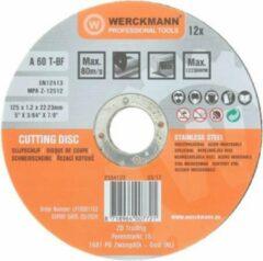Werckmann slijpschijven 12 stuks 125 x 1.2 x 22.23 mm