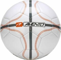 Avento Voetbal Glossy - League Defender - Wit/Oranje/Zilver - 5