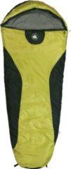 10-T Outdoor Equipment 10T Schlafsack YUKON M -7° warm weich 1400g leicht Mumienschlafsack 200x80 Gelb / Schwarz 225g/m²