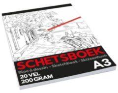 Rode TOM schetsboek Pro junior A3 papier wit 20 vellen