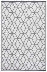 Esschert Design Buitenkleed Graphics 180x121 cm grijs en wit OC25