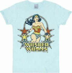 Lichtblauwe Logoshirt Heren T-shirt Maat L