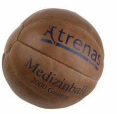 Scitec Nutrition Trenas - Medicijnbal - Medicine bal - Klassische professionele medicijnbal - Leer - 2 kg - Bruin