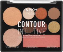 NYX Professional Makeup CONTOUR INTUITIVE™ Eye and Face Sculpting Palette - Warm Zone