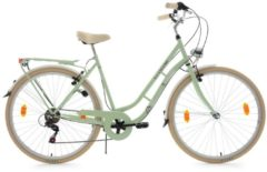 Cityrad, 28 Zoll, grün, 6 Gang-SHIMANO-Kettenschaltung, »Casino«, KS Cycling