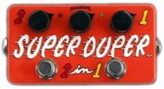 ZVEX Effects Super-Duper 2-in-1 handbeschilderd boost-pedaal