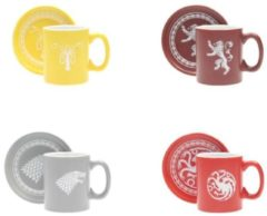 SD Toys GAME OF THRONES - Pack 4 Espresso Mugs Logos Collector Edition