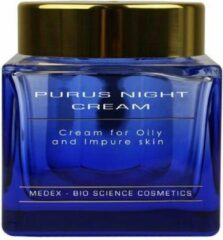 Medex Professional Purus Night Cream 50 ML | Nachtcreme | Vette huid | Kalmeert de onreine huid | Acnehuid