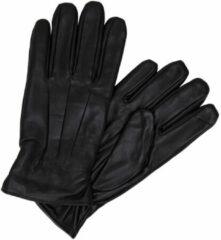 JACK & JONES leren handschoenen JACMONTANA zwart