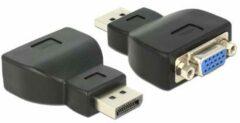 Zwarte DeLOCK kabeladapters/verloopstukjes Adapter Displayport 1.1 male > VGA female black