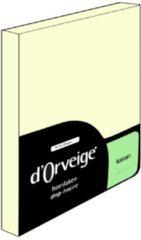 Creme witte D'Orveige Hoeslaken Katoen - Eenpersoons - 90x220 cm - Creme