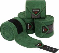Donkergroene LeMieux Luxury polo bandages