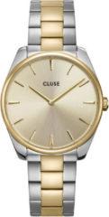 CLUSE Horloges Feroce 3 Link Silver Plated Soft Gold Colored Zilverkleurig