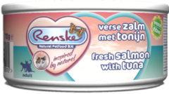 Renske Kat Vers Paté - Adult - Verse Zalm met Tonijn - 24 x 70 gram