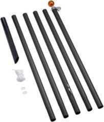 Fairybell - Vlaggenmast - Deelbaar - Aluminium - 800cm - Zwart