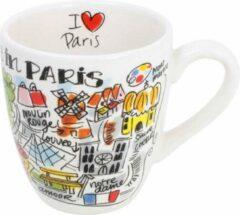 Witte Blond Amsterdam City mini mok Parijs (Ø8 cm)