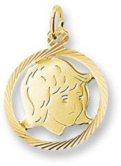 Gele Huiscollectie 4005837 Gouden bedel kinderkopje meisje