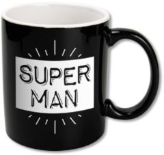 Witte Paper dreams Black&White Mugs - Superman-Black