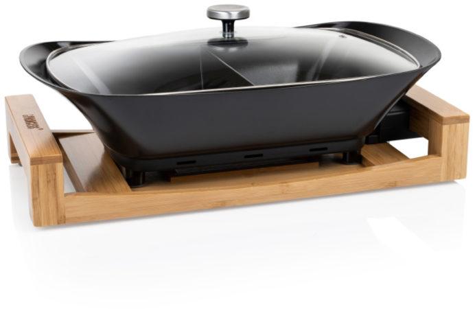 Afbeelding van Princess 163025 Multi Cook Pure – Luxe Hapjespan – Zwarte keramische coating – Bamboe