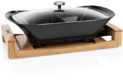 Princess 163025 Multi Cook Pure – Luxe Hapjespan – Zwarte keramische coating – Bamboe