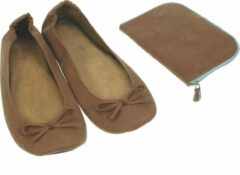 Meander elegant home accesoires Pocket Shoe camel maat 38/39 - slofje voor onderweg