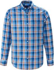 Overhemd van 100% katoen met ruitdessin Van GANT blauw