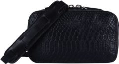 Zwarte MYOMY MY Boxy Bag Cookie Dames Handtas - hunter off-black