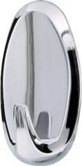 Zilveren 2x Tesa Powerstrips chroom haken ovaal large - Klusbenodigdheden - Huishouden - Verwijderbare haken - Opplak haken 2 stuks