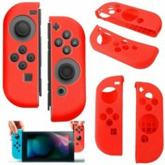 Merkloos / Sans marque Silicone Anti Slip cover voor Nintendo Switch Controller Rood