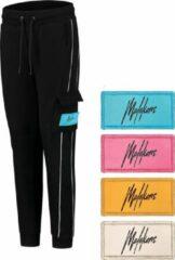 Zwarte Malelions Junior Velcro Trackpants - Black - 16 | 176