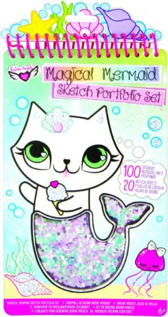 Afbeelding van Crayola Fashion Angels Kleur/stickerboek Mermaid 120-delig